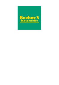 Test des concepts de base Boehm - 3 Maternelle