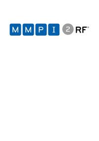 Inventaire multiphasique de personnalité du Minnesota -2 forme restructurée