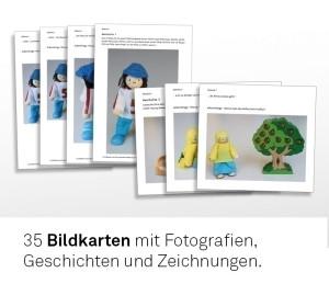Materialsatz komplett bestehend aus: Bildkartensatz, Spielkartenset und Mappe