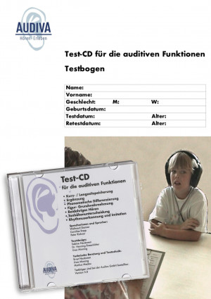 bestehend aus: Audio-CD, Anleitung und 2 Testbögen